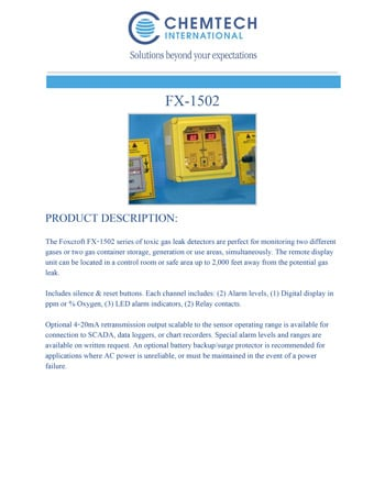 chemtech-us-products-catalog-cover-gas-leak-detectors-FX-1502-1 Gas Leak Detectors