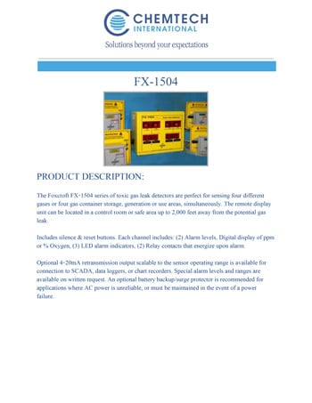 chemtech-us-products-catalog-cover-gas-leak-detectors-FX-1504-1 Gas Leak Detectors