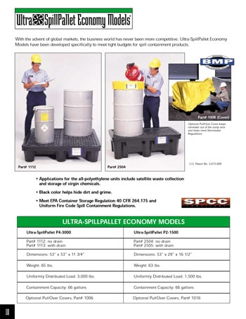 chemtech-us-products-catalog-cover-secondary-containment-Economy-Spill-Pallet Secondary Containment