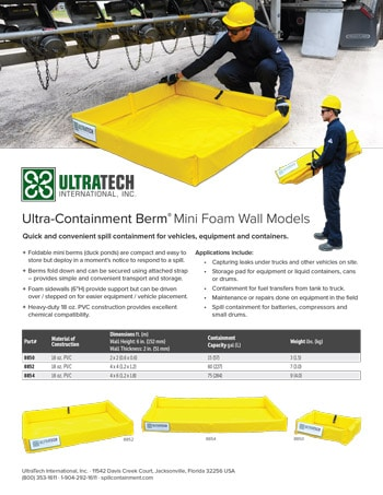 chemtech-us-products-catalog-cover-secondary-containment-Mini-Foam-Wall-Flyer-6-5-15 Secondary Containment
