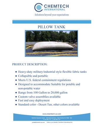 chemtech-us-products-catalog-cover-spill-containment-berms-PILLOWTANK Spill Containment Berms