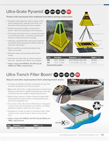 chemtech-us-products-catalog-cover-stormwater-safety-products-Grate-Pyramid-and-Trench-Filter-Boom Stormwater Safety Products