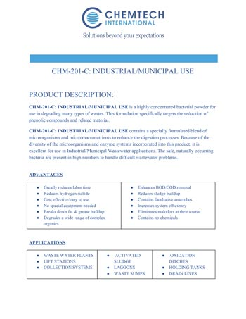 chemtech-us-products-catalog-cover-waste-water-treatment-CHM-201CIndustrial-MunicipalUse Waste Water Treatment