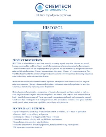 chemtech-us-products-catalog-cover-waste-water-treatment-HISTOSOL-1 Waste Water Treatment