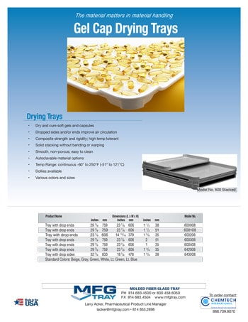 chemtech-us-products-soft-gel-drying-trays-catalog-cover-Sof-Gel-Tray-Flyer Soft Gel Drying Trays