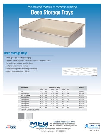 chemtech-us-products-soft-gel-drying-trays-catalog-cover-Soft-Gel-Deep-Tray-Flyer Soft Gel Drying Trays